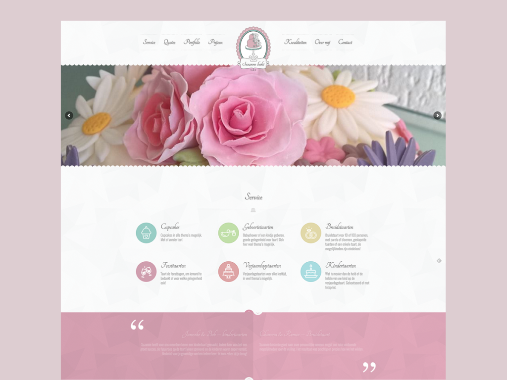 Website Suzanne bakt
